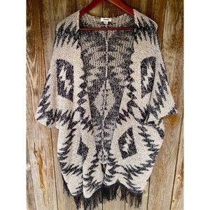 GARAGE boho open front cardigan shawl